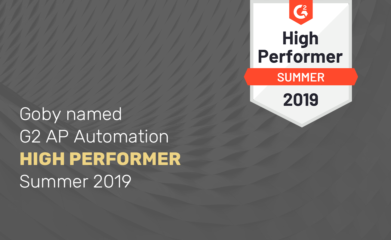 Goby named a High Performer in G2 AP Automation Category | Goby