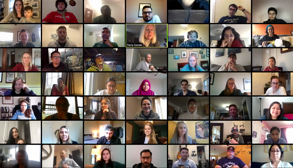 Full company remote meeting