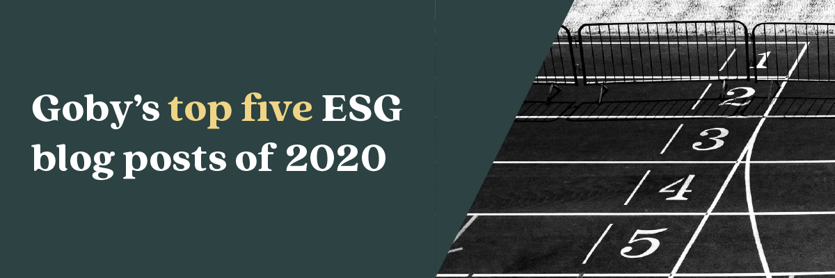 Goby's top five ESG blog posts of last year